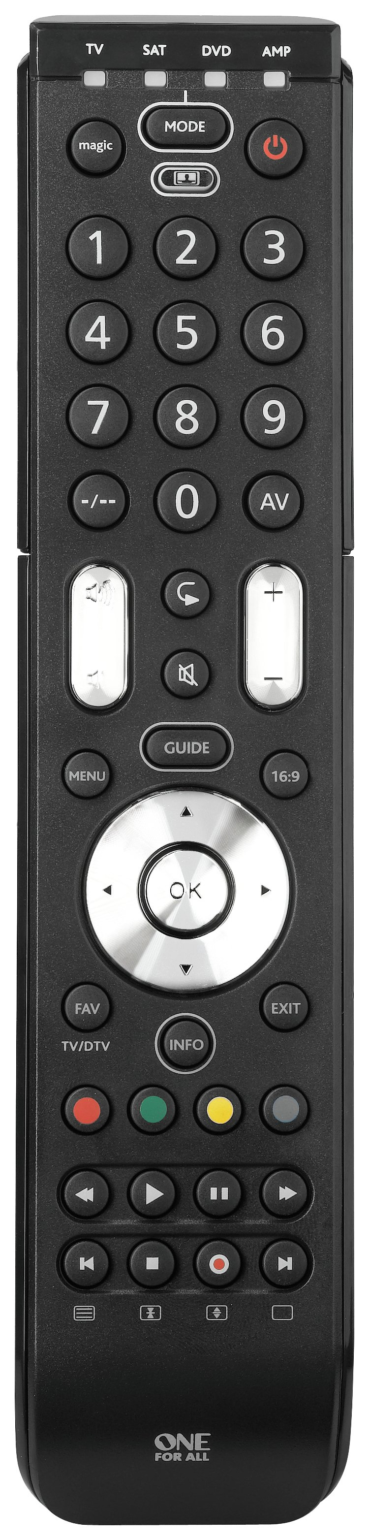 One For All One For All Essence 4-Way Combi Remote Control.
