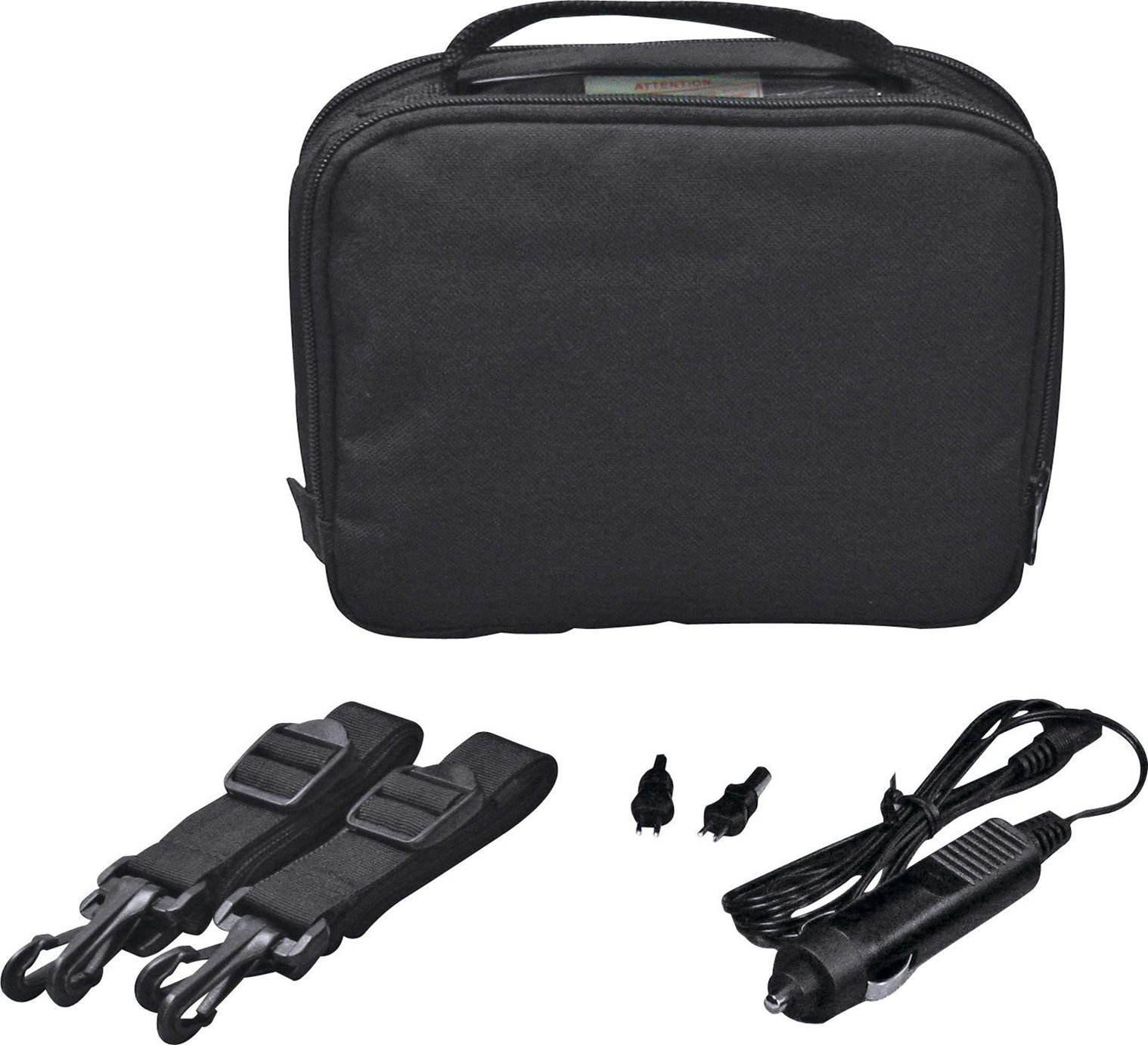 7 Inch - Gadget Bag with - Car Charger - Black