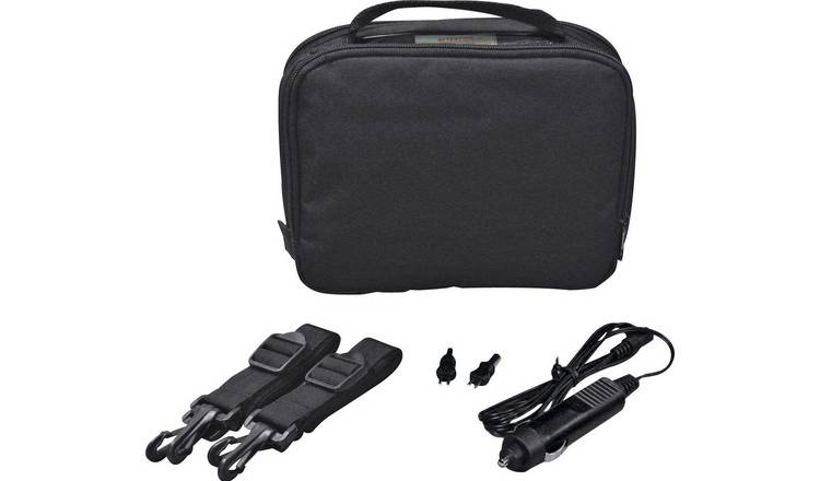 7 Inch Gadget Bag with Car Charger - Black