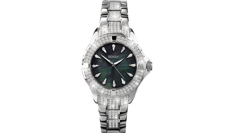 Seksy Intense Ladies Silver Coloured Bracelet Watch