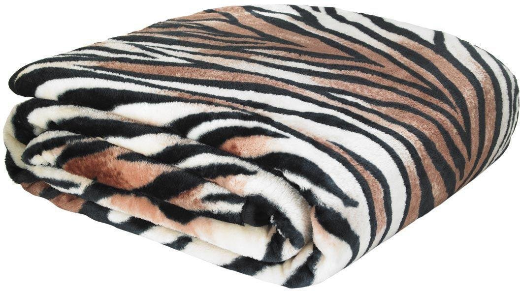 catherine lansfield raschel throw  tiger print