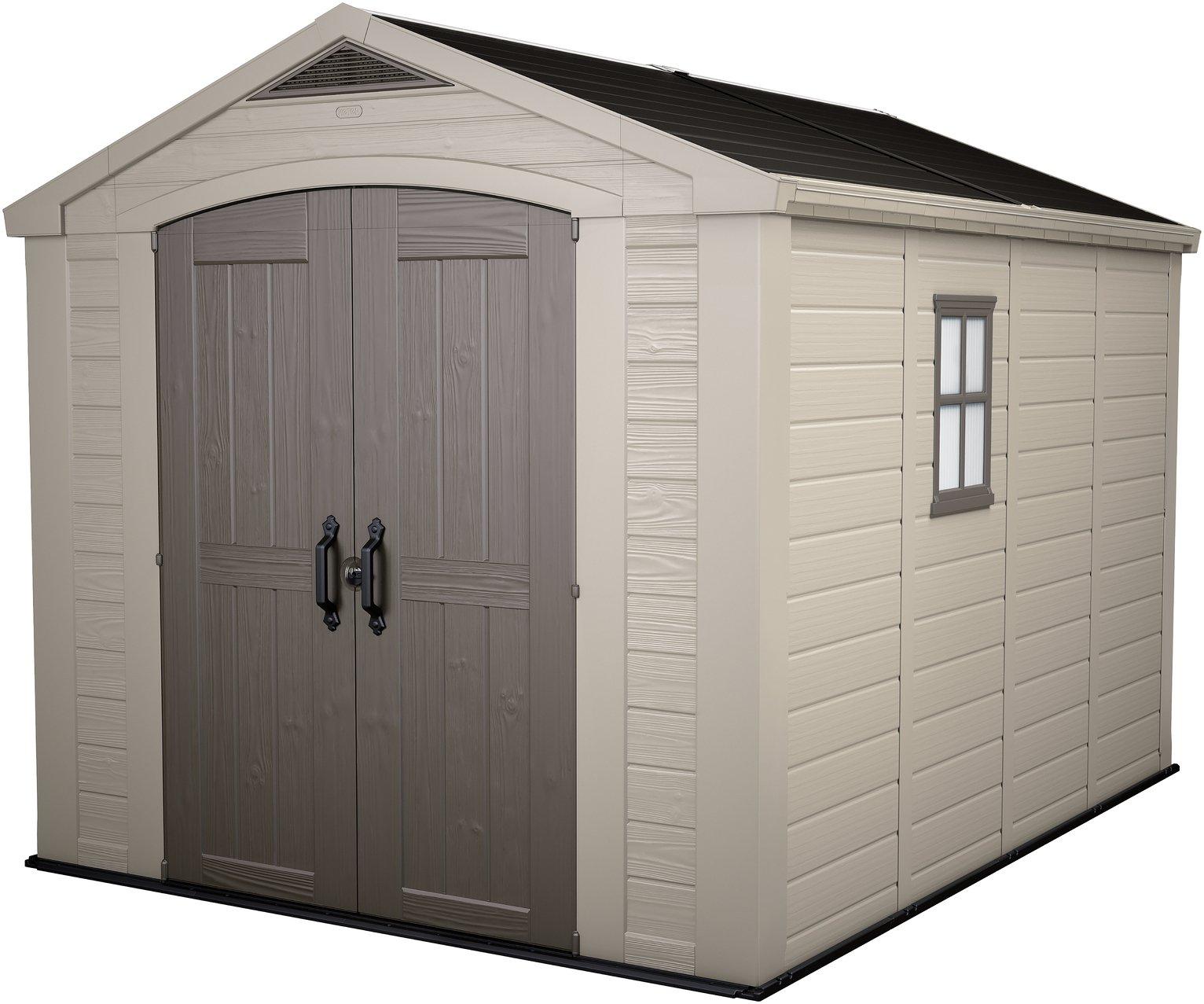 Garden Sheds Argos buy keter apex plastic beige & brown garden shed - 8 x 11ft at