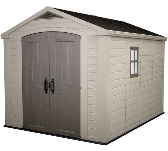 Buy Keter Apex Plastic Beige Brown Garden Shed X At