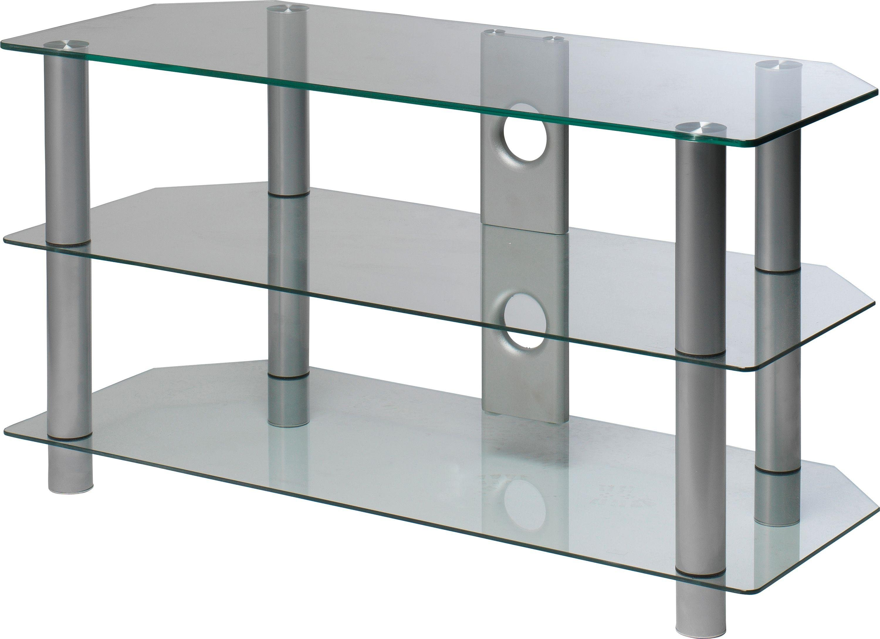 Clear Glass 42 Inch Rectangular TV Stand