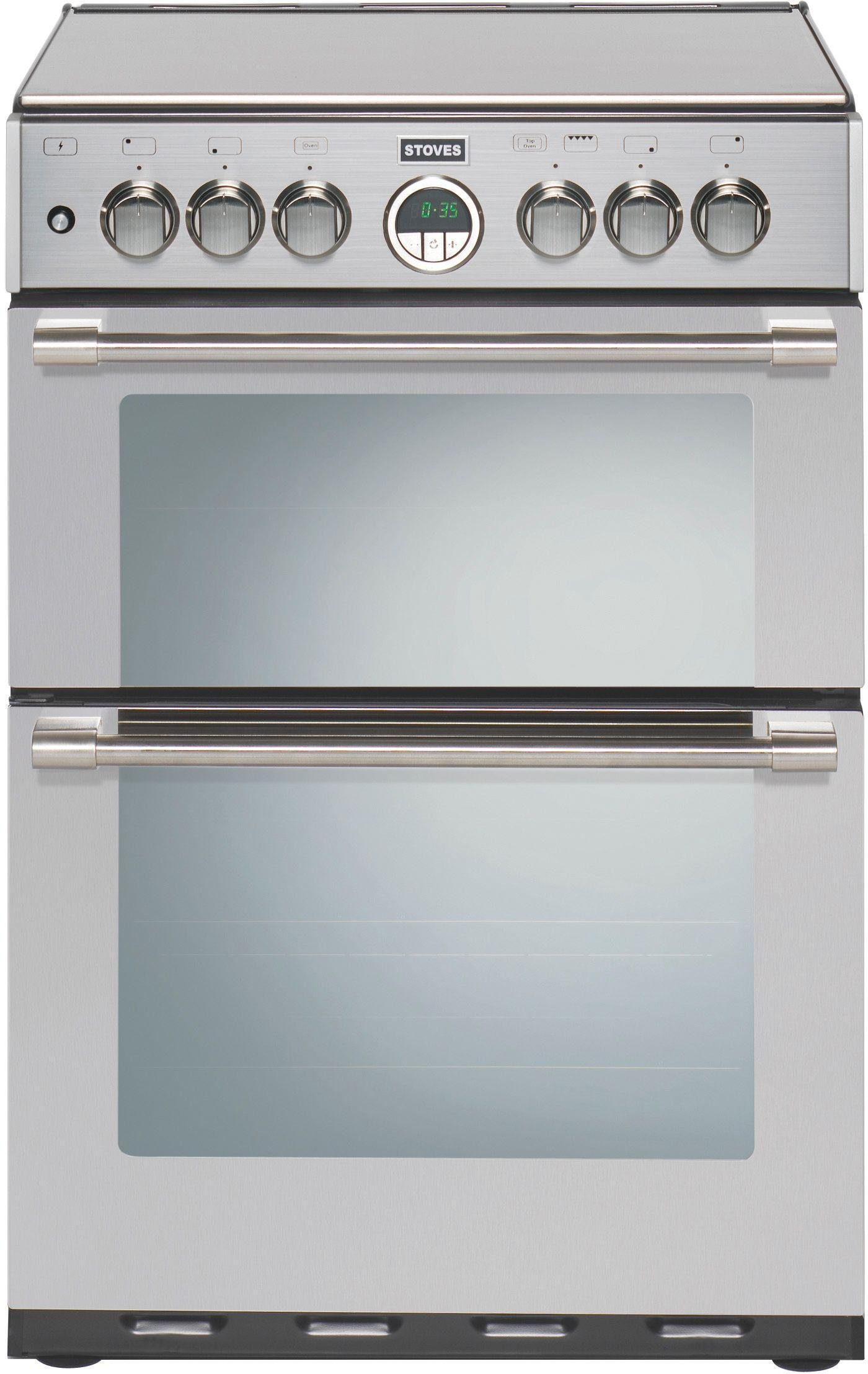 Stoves Sterling 600G Double Gas Cooker - Stainless Steel