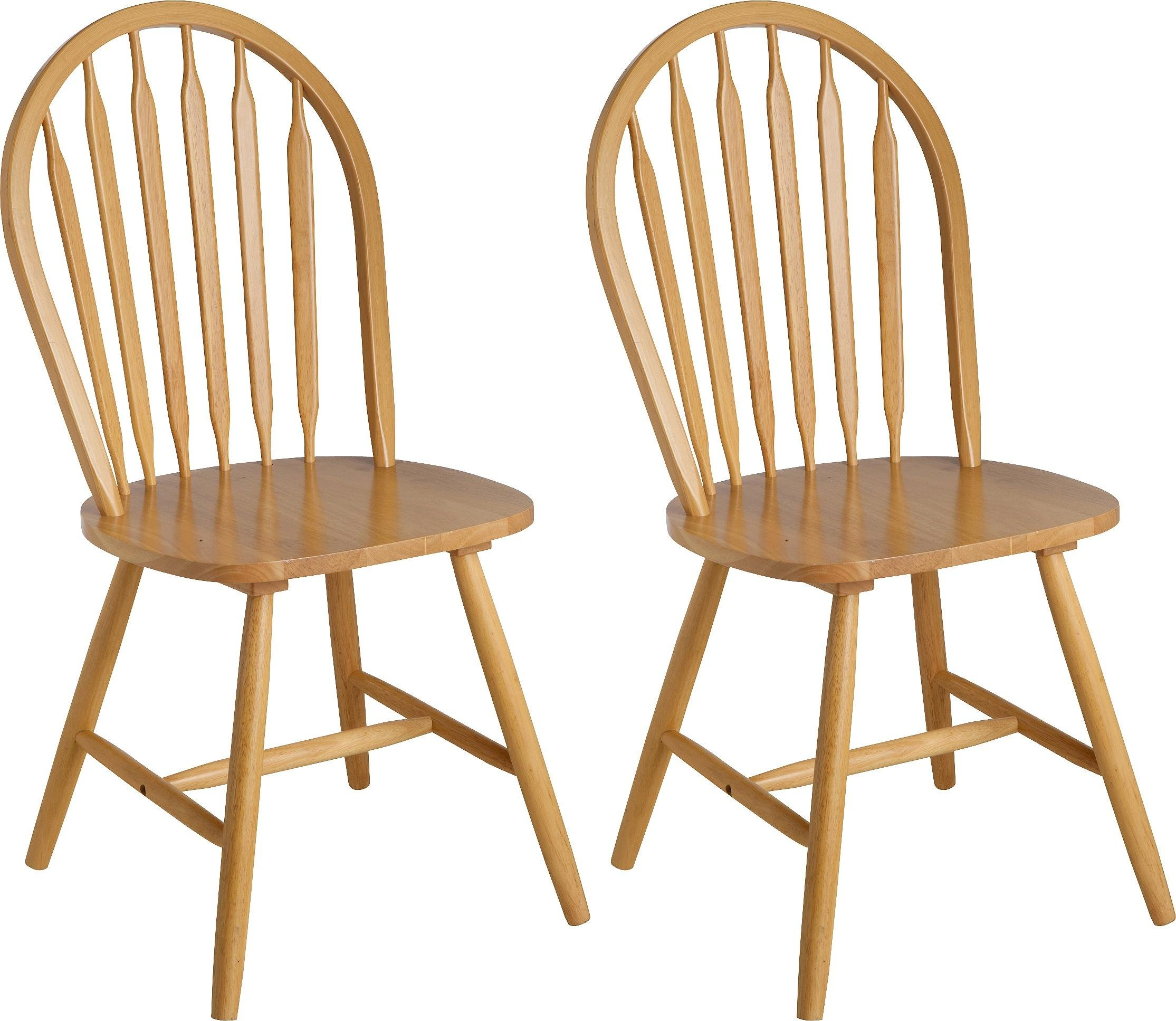 Image of Collection Kentucky Pair of Solid Wood Dining Chairs