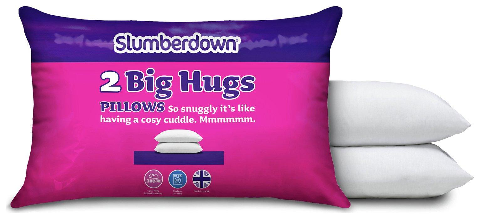 slumberdown big hug pair of pillows