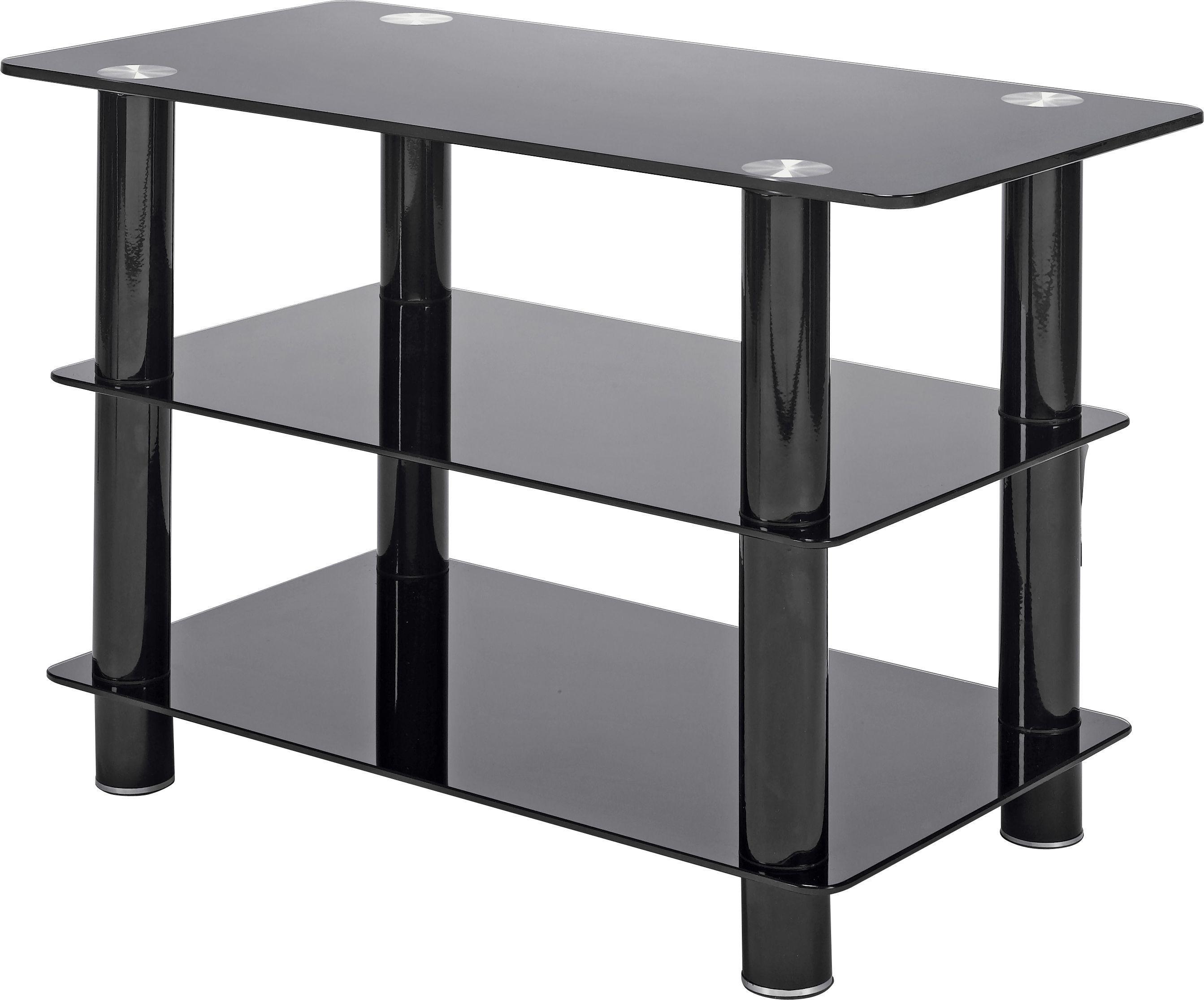 Black Glass 32 Inch Slimline TV Stand.