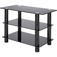 Black Glass 32 Inch Slimline TV Stand.