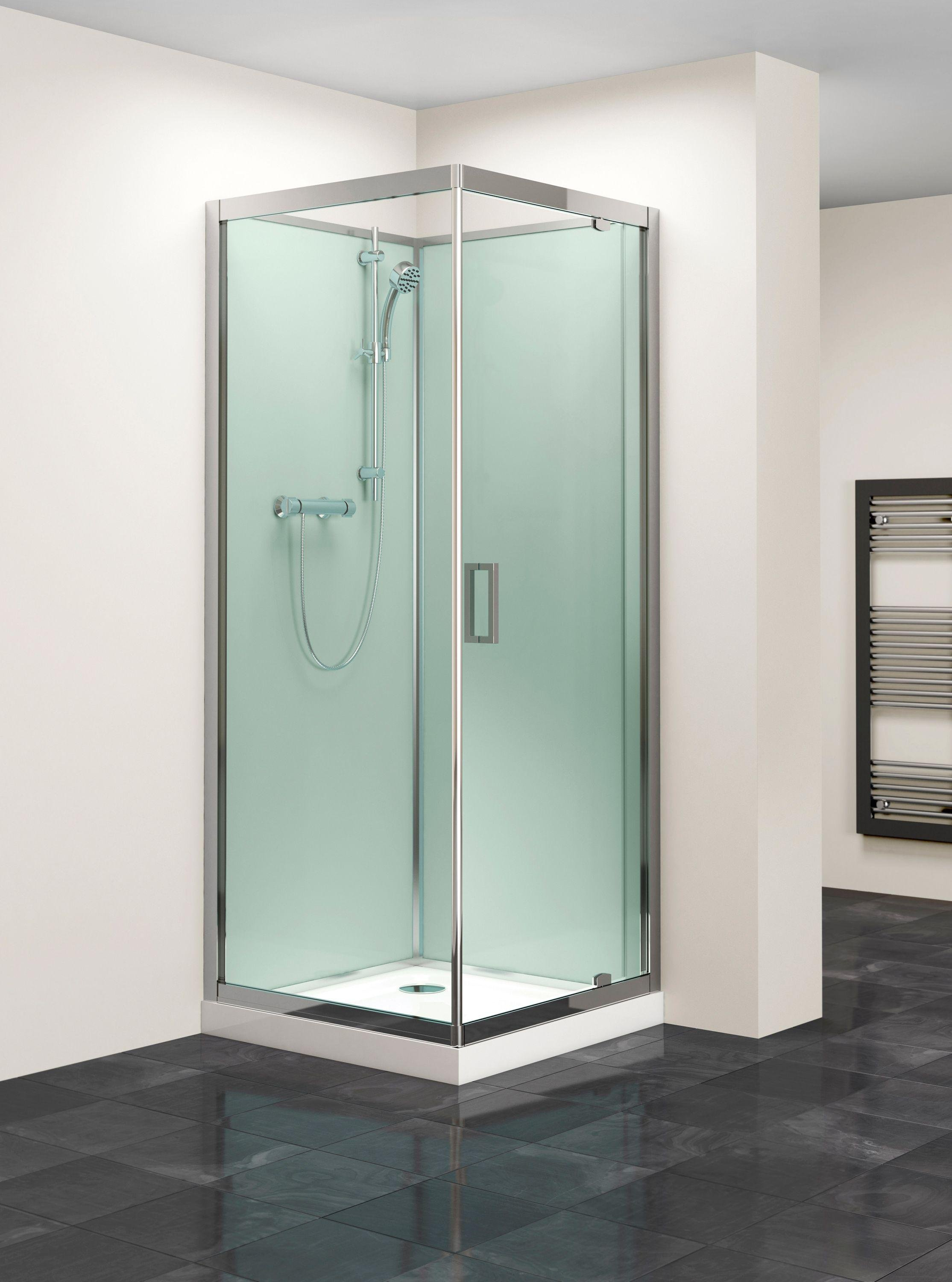Lavari 800mm Glass Pivot Door Shower Enclosure & Tray