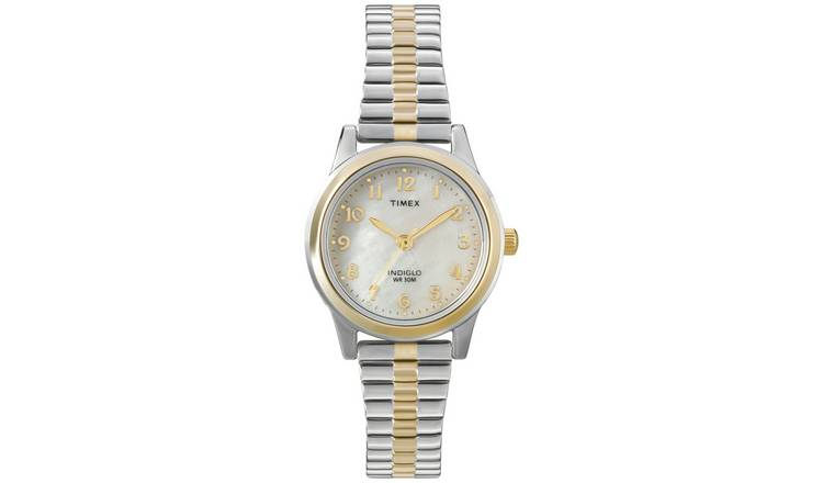 Timex Ladies Two-Tone Expander Bracelet Watch