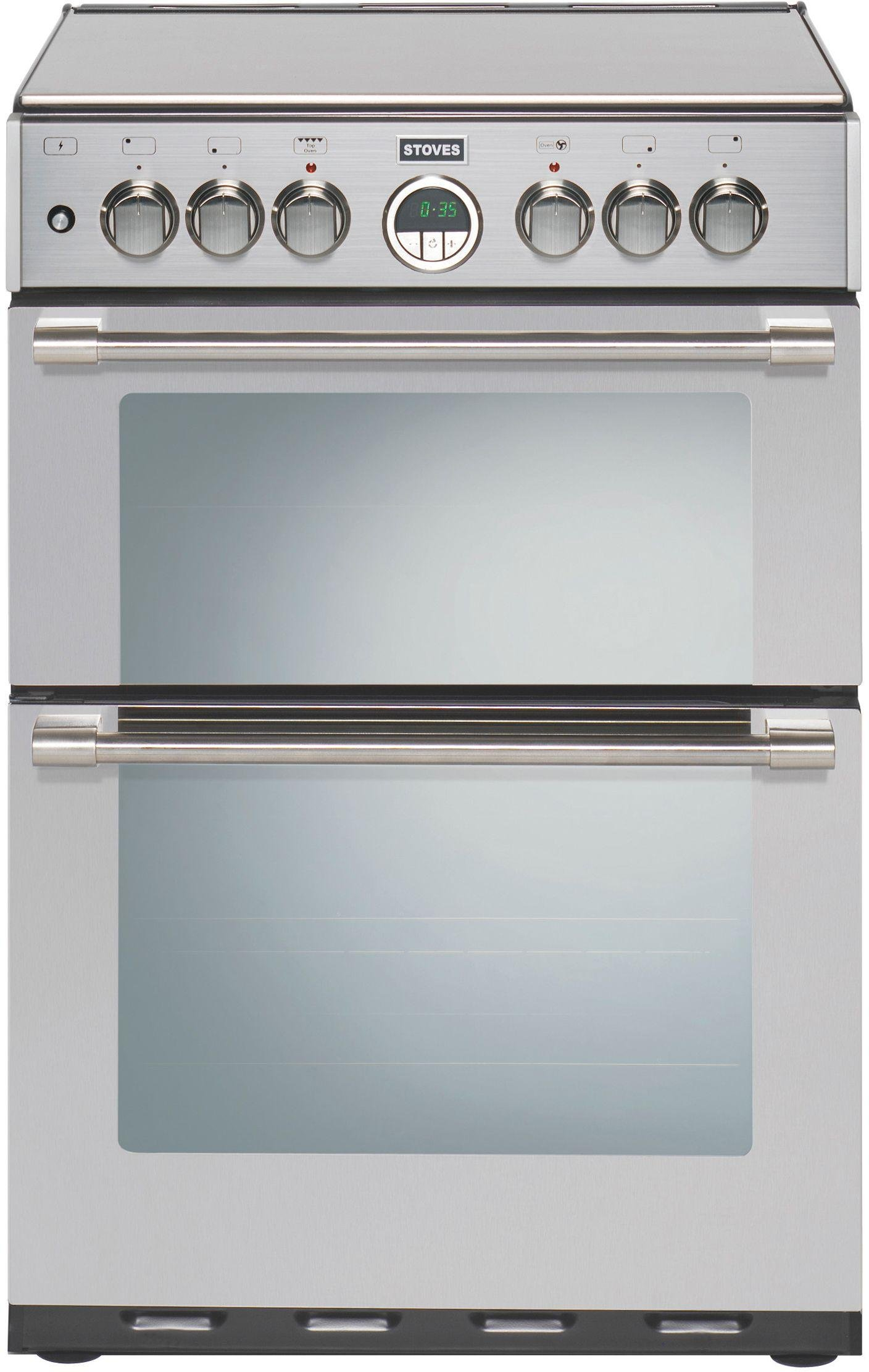 Stoves Sterling 600 60cm Double Dual Fuel Cooker - S/ Steel