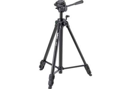 Cut out image of a Velbon DF-51 Camera Tripod in black.