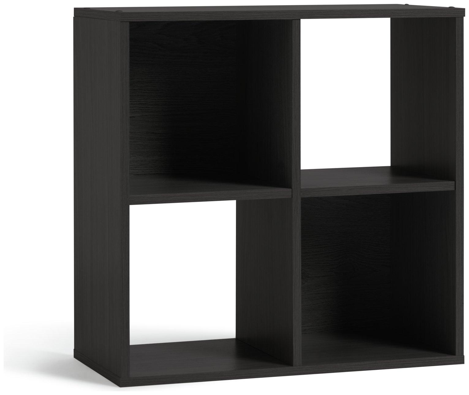 Argos Home Squares 4 Cube Storage Unit Black