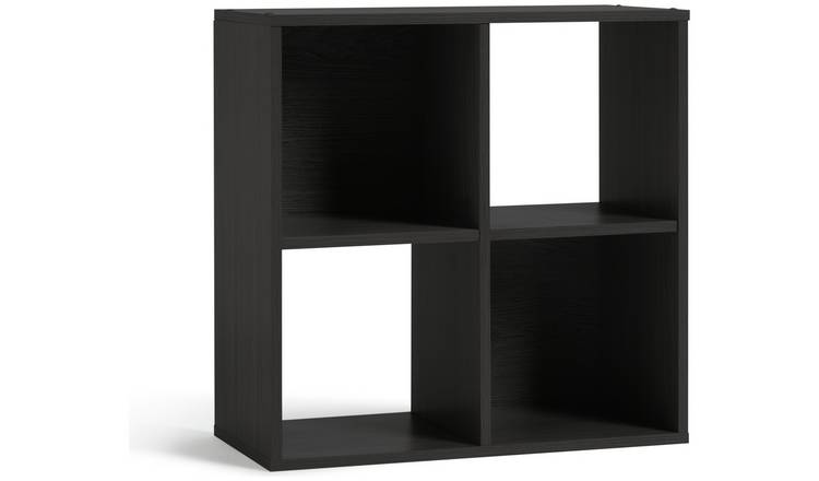 Buy Argos Home Squares 4 Cube Storage Unit - Black | Storage units and  drawers | Argos