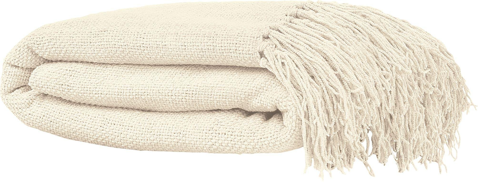Argos Home Diamond Large Cotton Throw - Natural