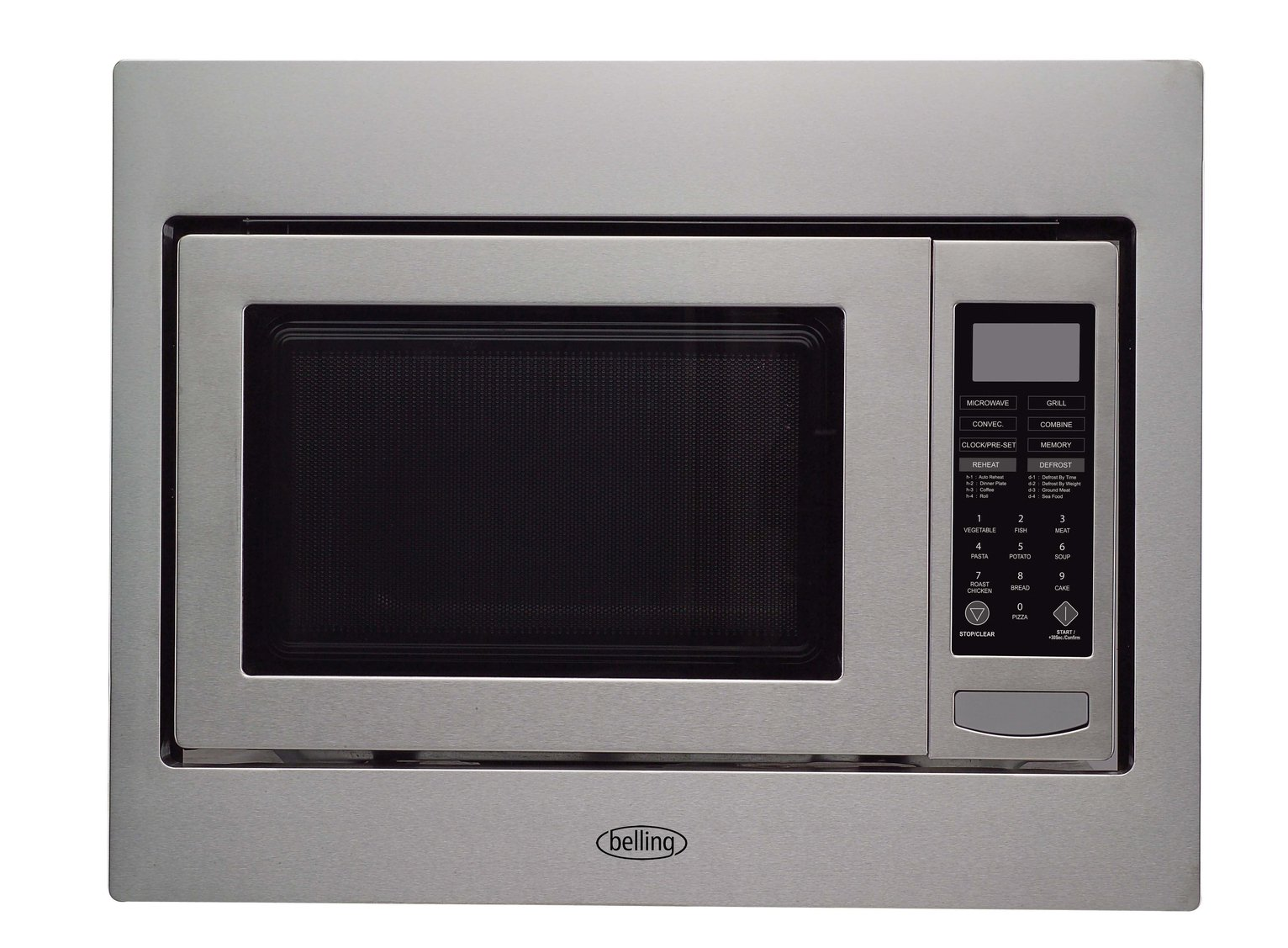 Belling BIMW60 Integrated Microwave - Stainless Steel