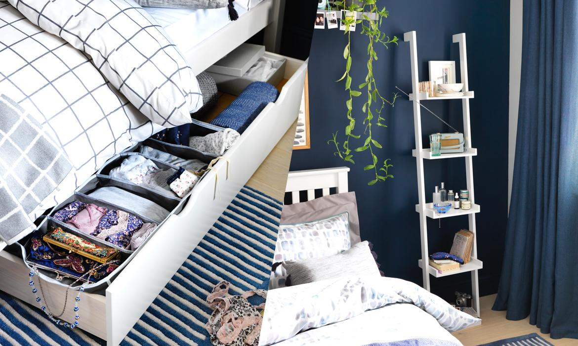 Bedroom storage ideas.