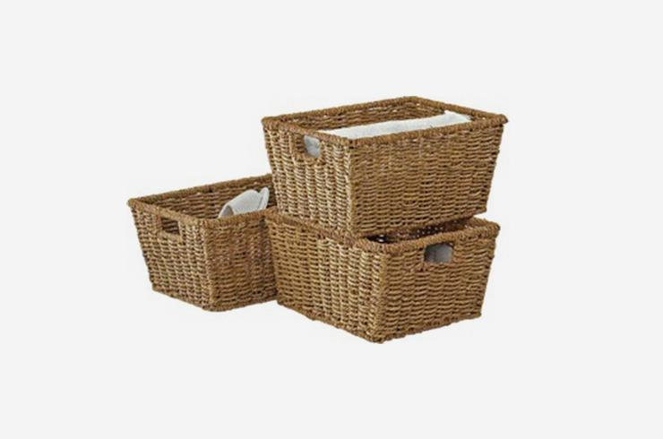 Storage baskets.