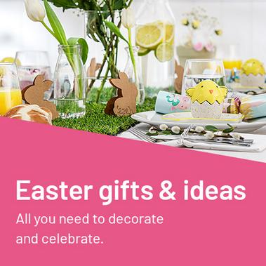 Easter gifts & ideas. All you need to decorate and celebrate.
