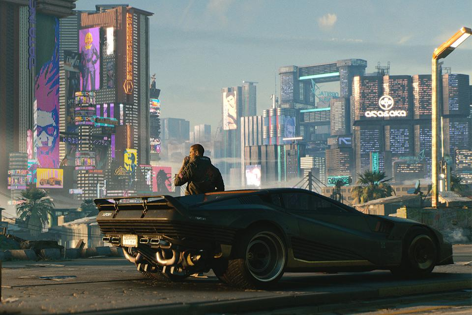 A screenshot from the PC game Cyberpunk 2077.