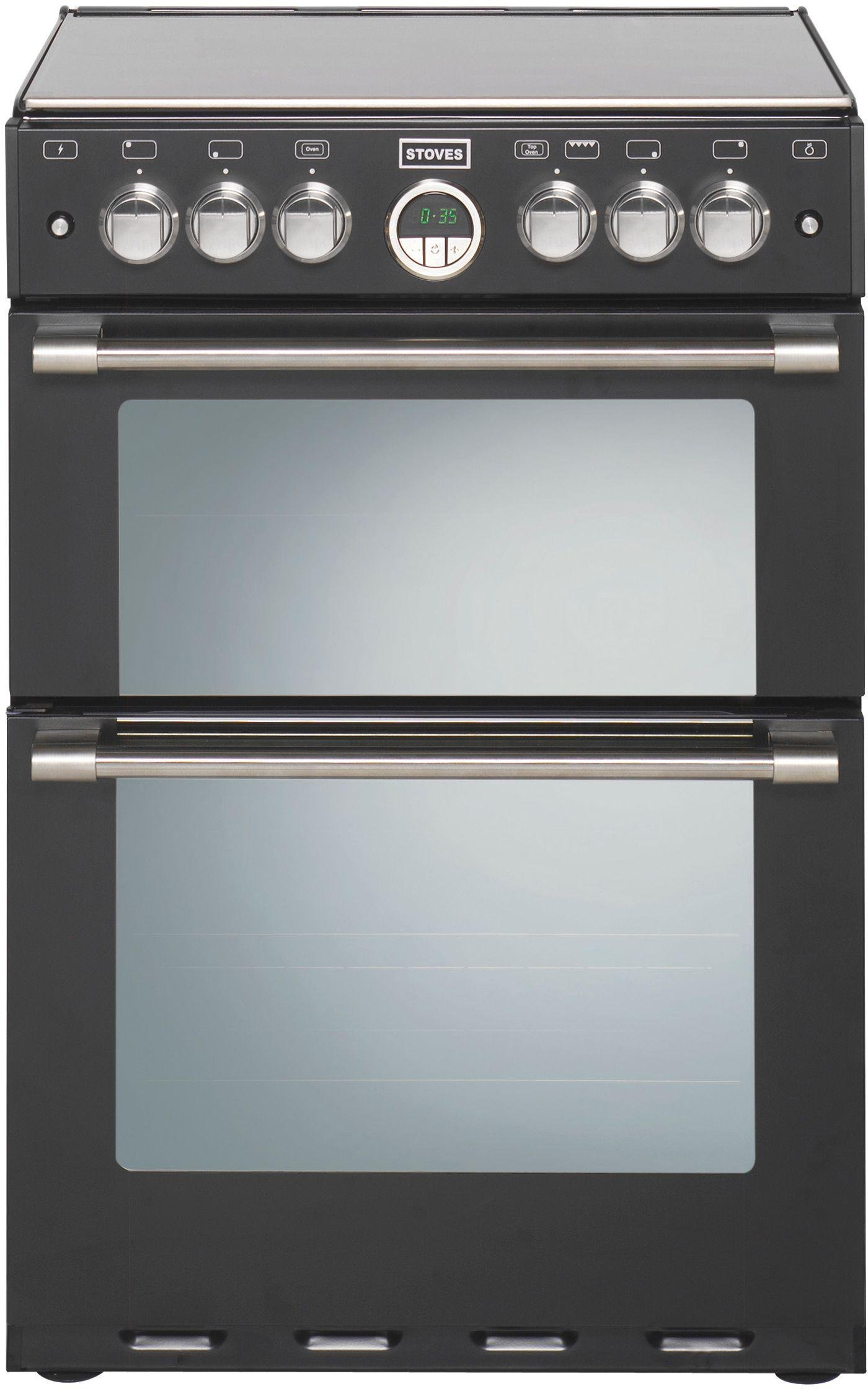 Stoves Sterling 600G 60cm Double Oven Gas Cooker - Black