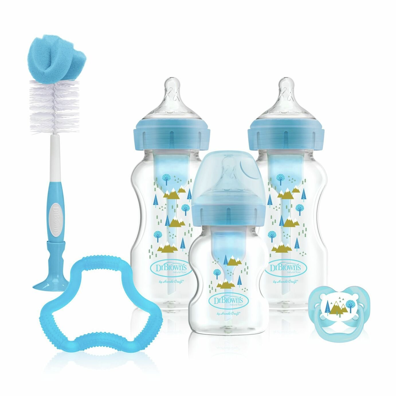Dr Brown's Options  Anti-Colic Baby Bottle Feeding Set Blue