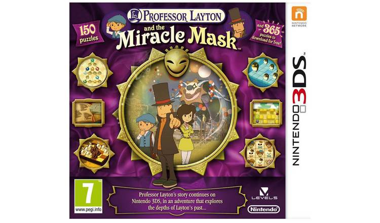 Professor Layton & The Miracle Mask Nintendo 3DS Game