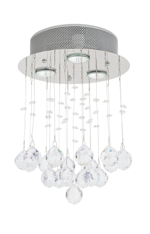 Argos Home Sophia LED Beaded Ceiling Light - Chrome