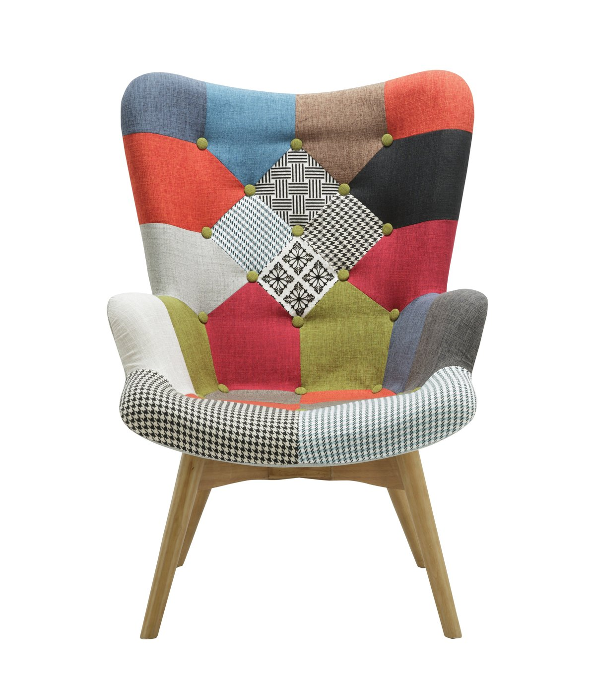 Birlea Sloane Fabric Accent Chair - Multicoloured