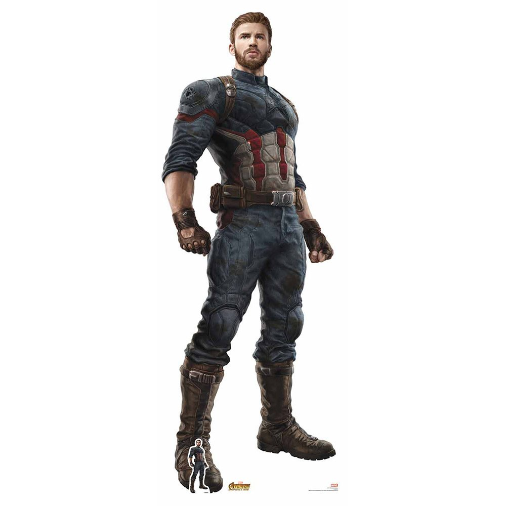 Star Cutouts Captain America Cardboard Cutout