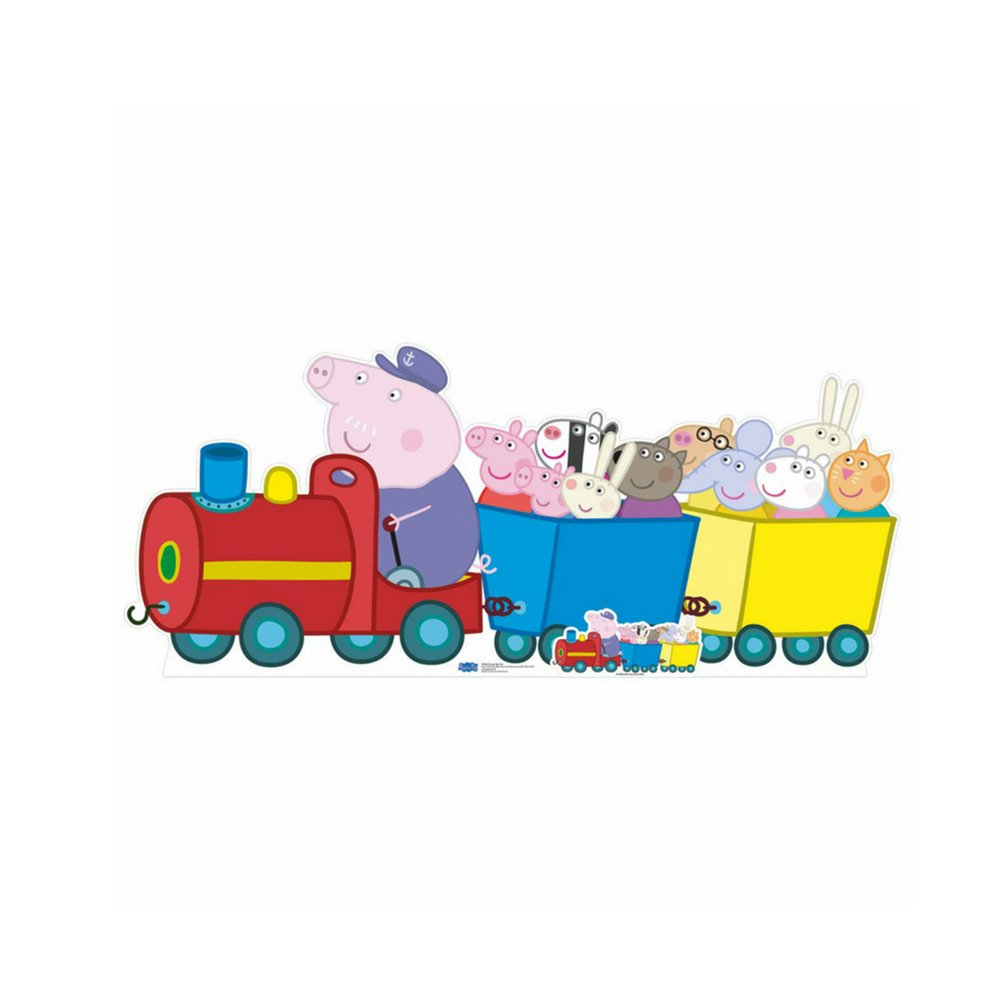 Star Cutouts Peppa Pig Grandpa Pig Train Cardboard Cutout
