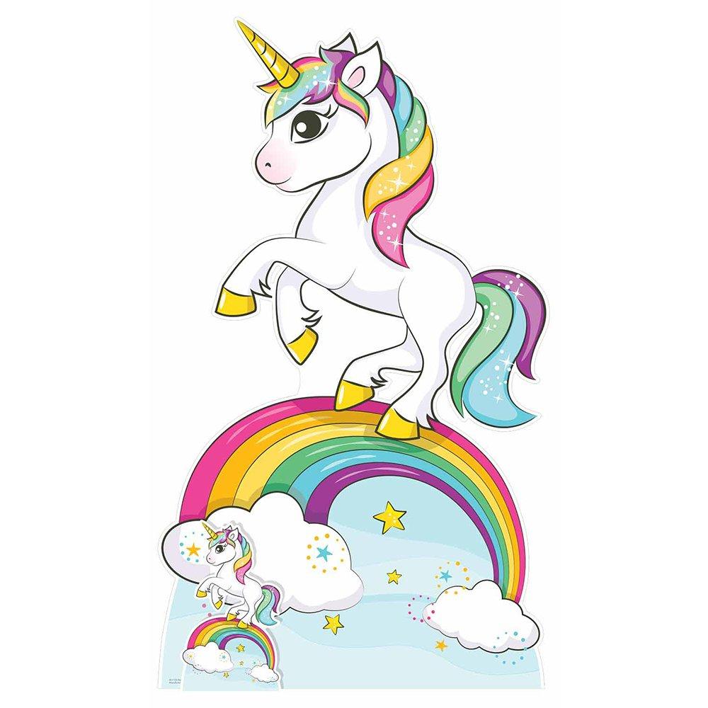 Star Cutouts Rainbow Unicorn Cardboard Cutout