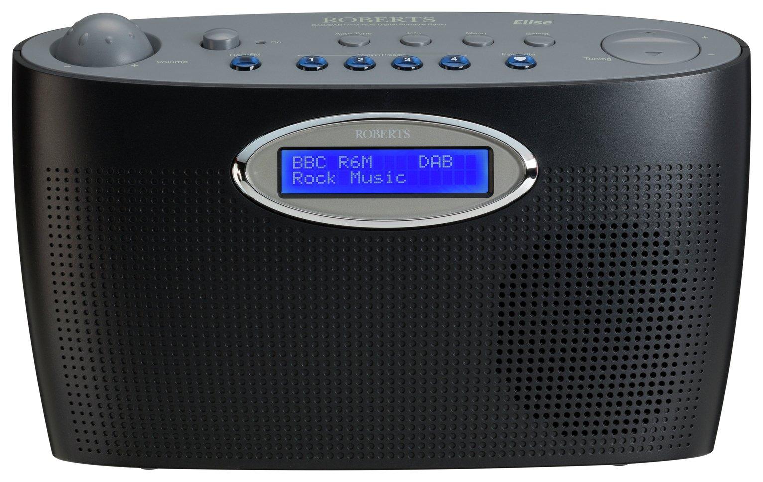 Roberts Elise DAB Radio - Black