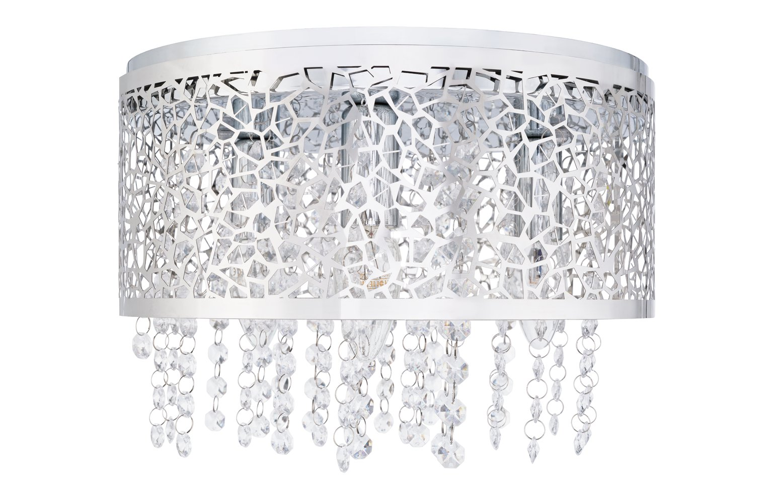 Argos Home Beaded Flush to Ceiling Light - Chrome