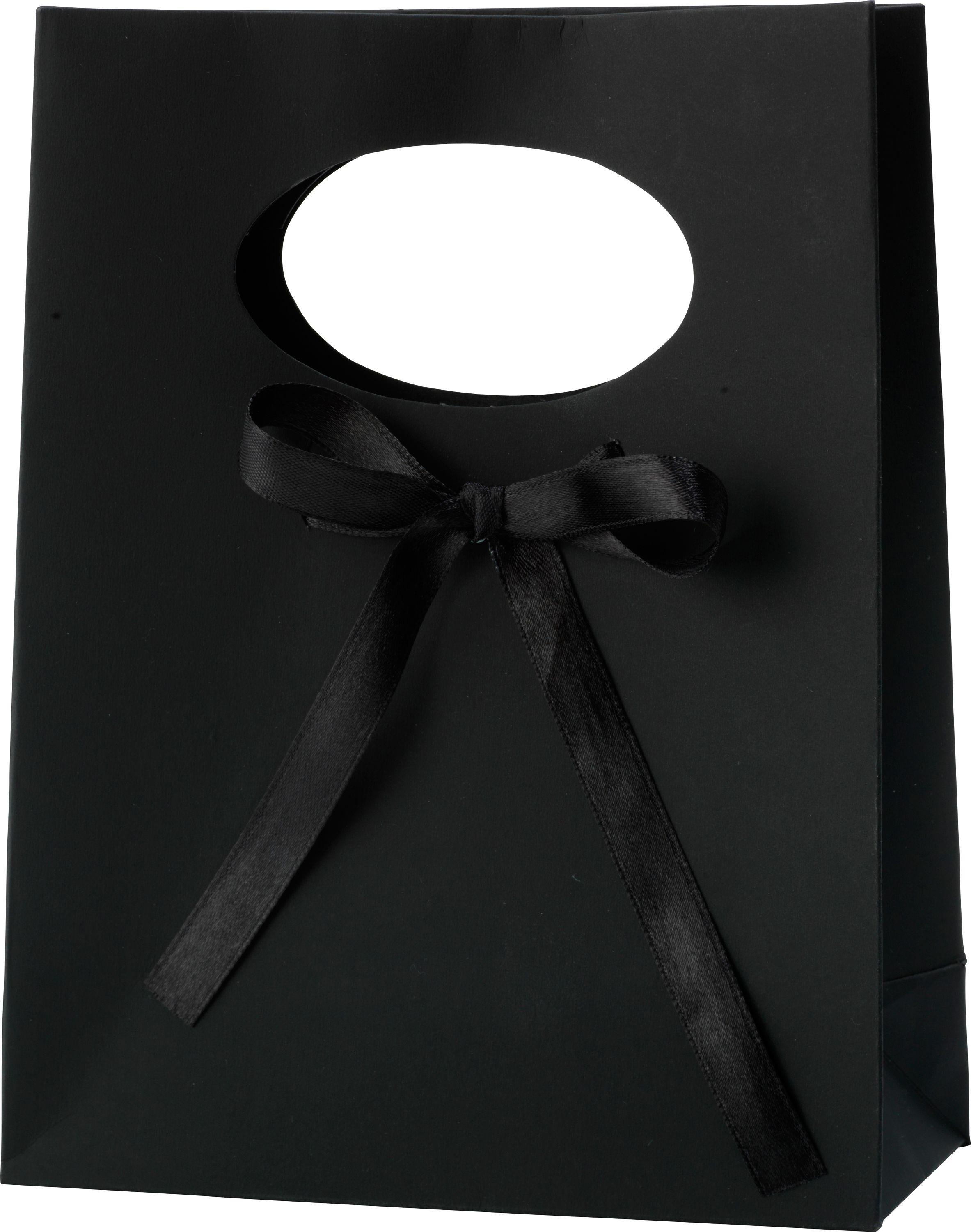 Image of Small - Jewellery - Gift Bag - Black With Bow