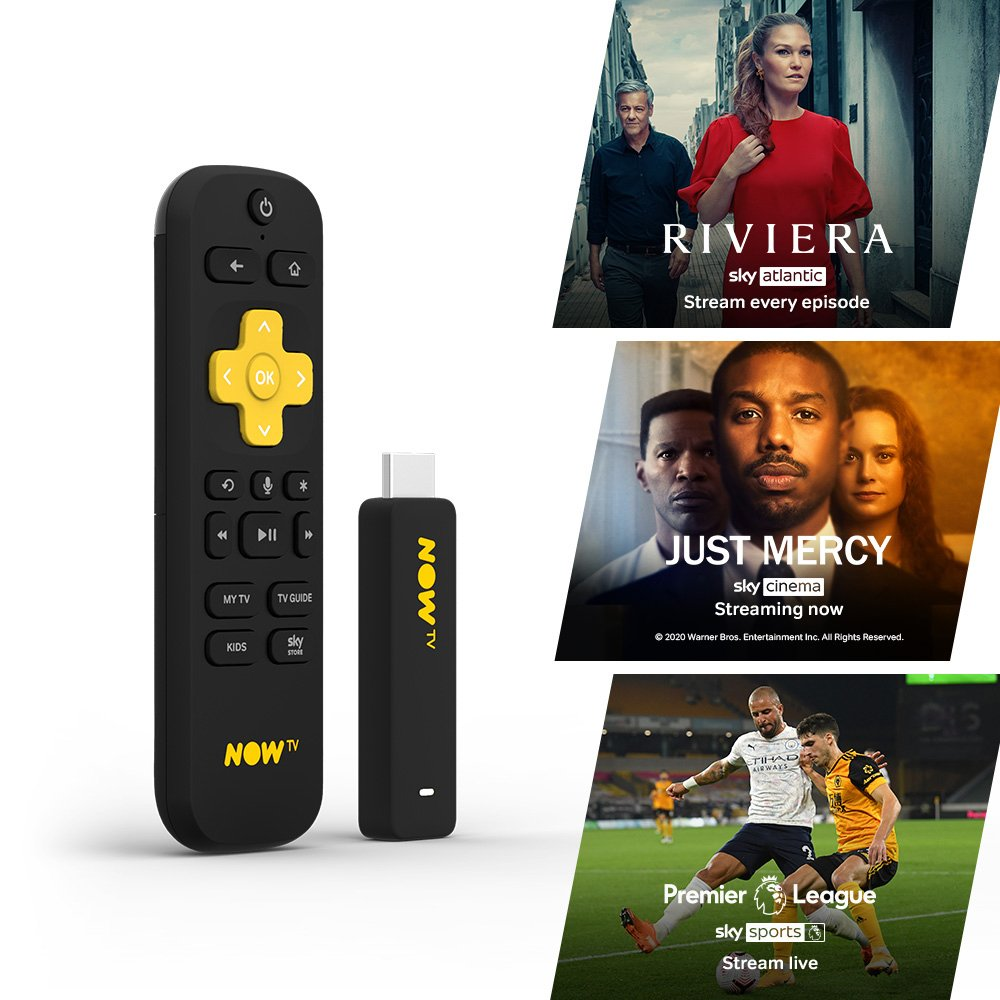 NOW TV Stick-Entertainment, Sky Cinema & Sky Sports Day Pass