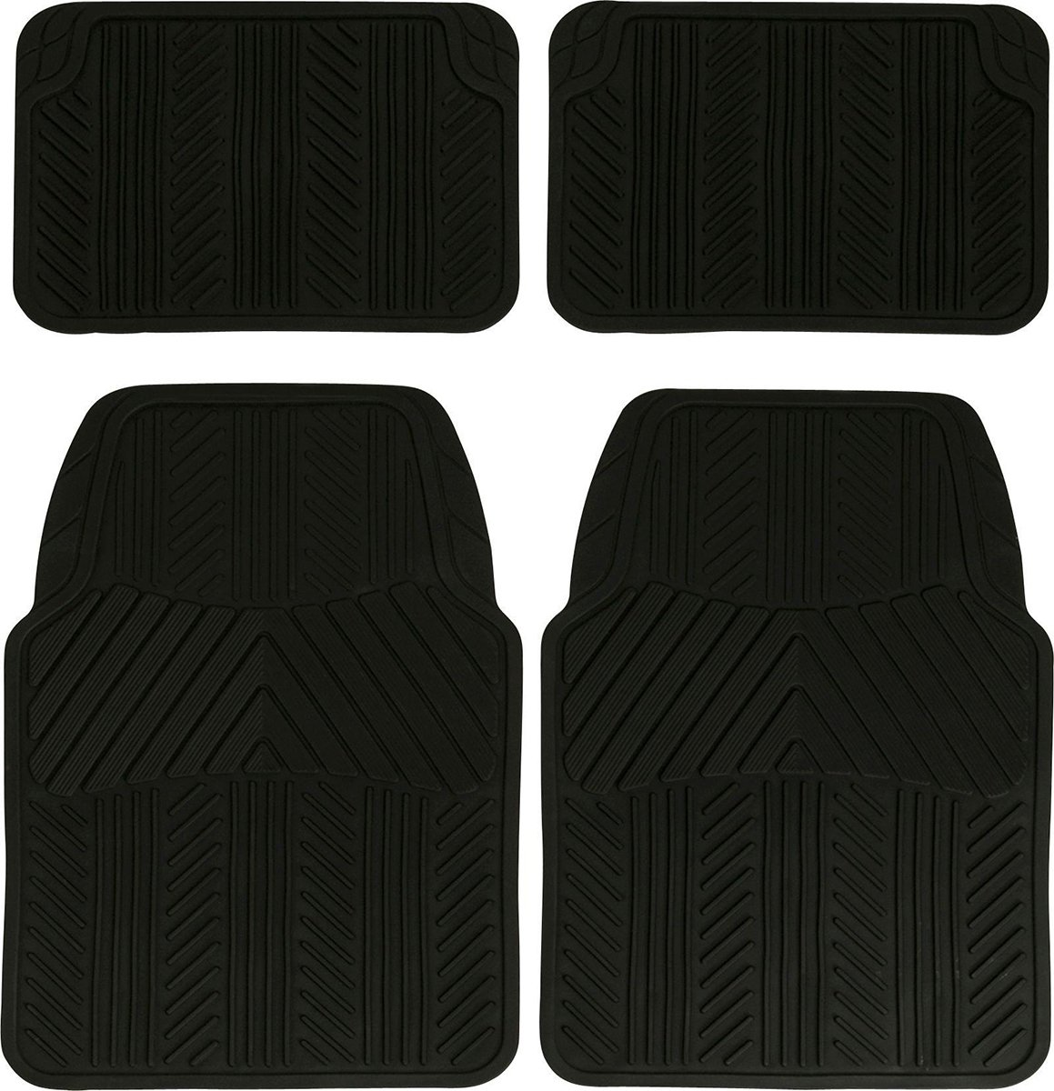 Image of Streetwize - Set of 4 Premium Rubber Car Mats - Black