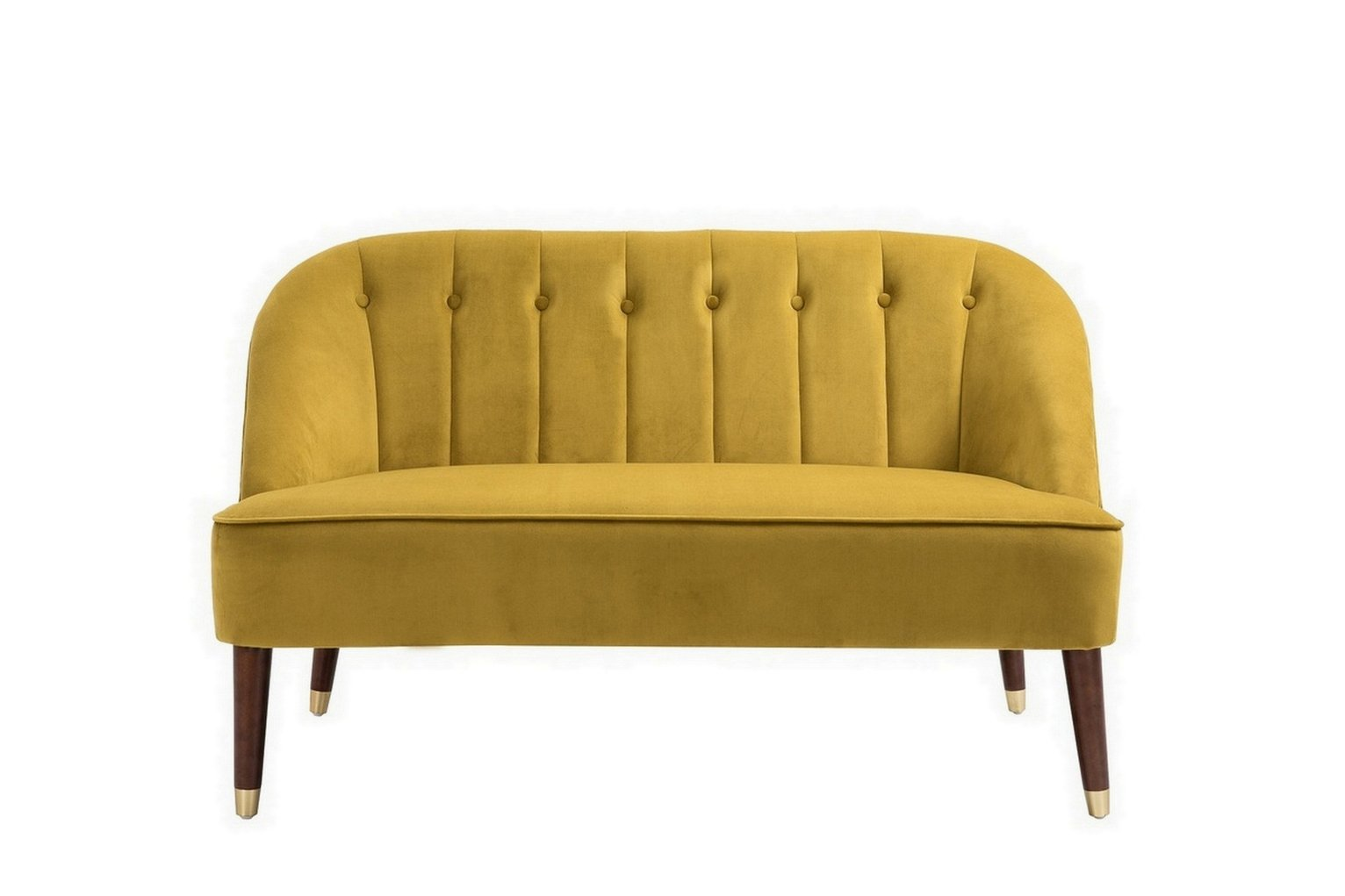 Birlea Alexa 2 Seater Fabric Sofa - Mustard