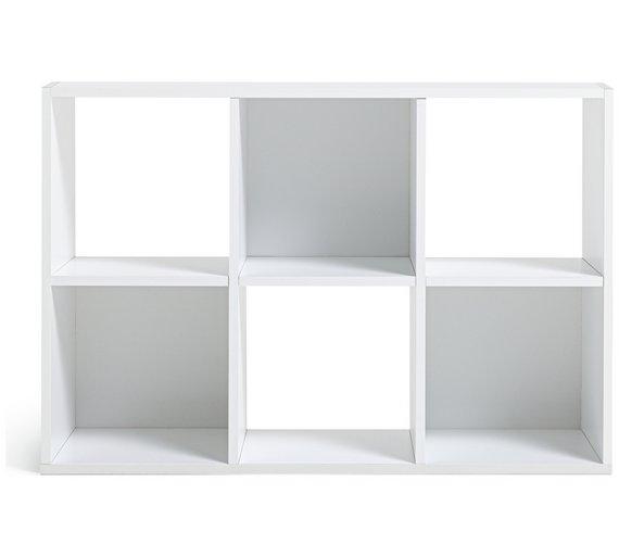 Argos home squares 6 cube storage unit white