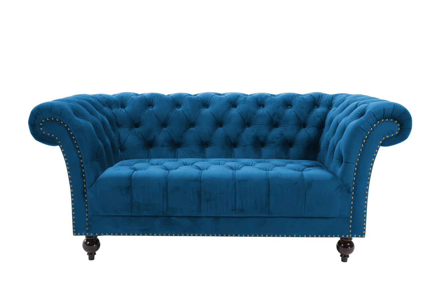 Birlea Chester 2 Seater Fabric Sofa - Blue