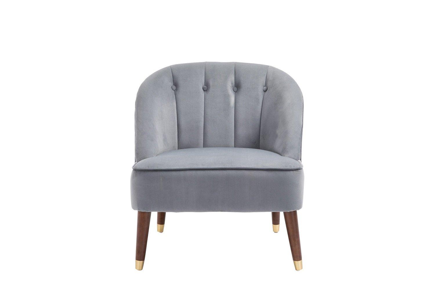 Birlea Alexa Fabric Accent Chair - Grey