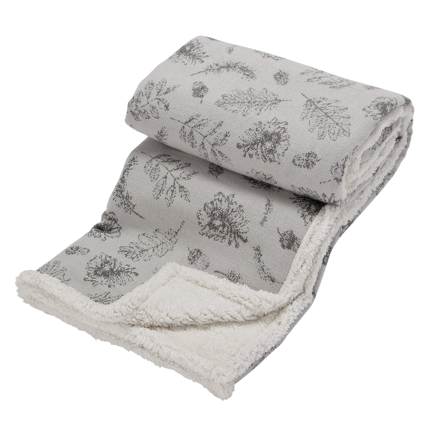 Argos Home Winters Cabin Sherpa Throw - Grey