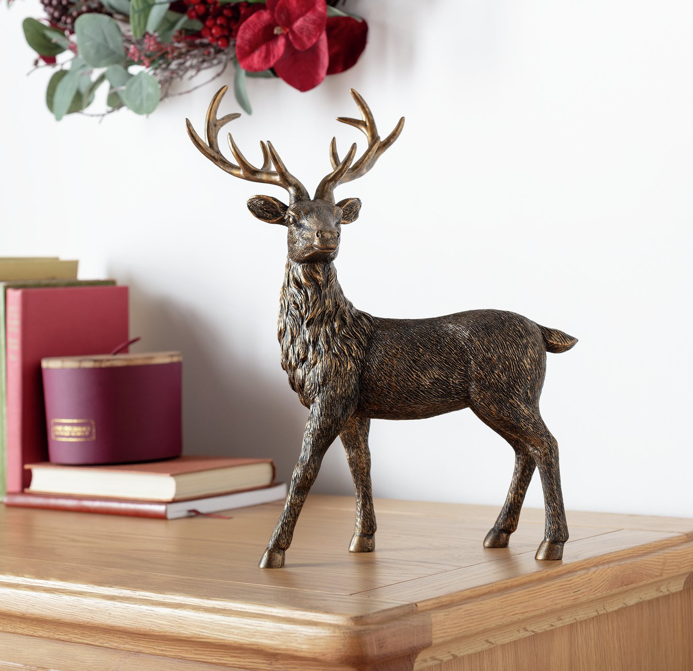 Argos Home Berry Christmas Stag