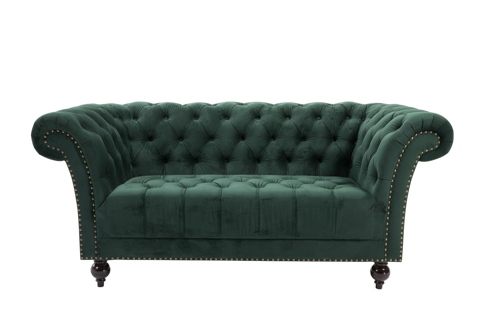 Birlea Chester 2 Seater Fabric Sofa - Green