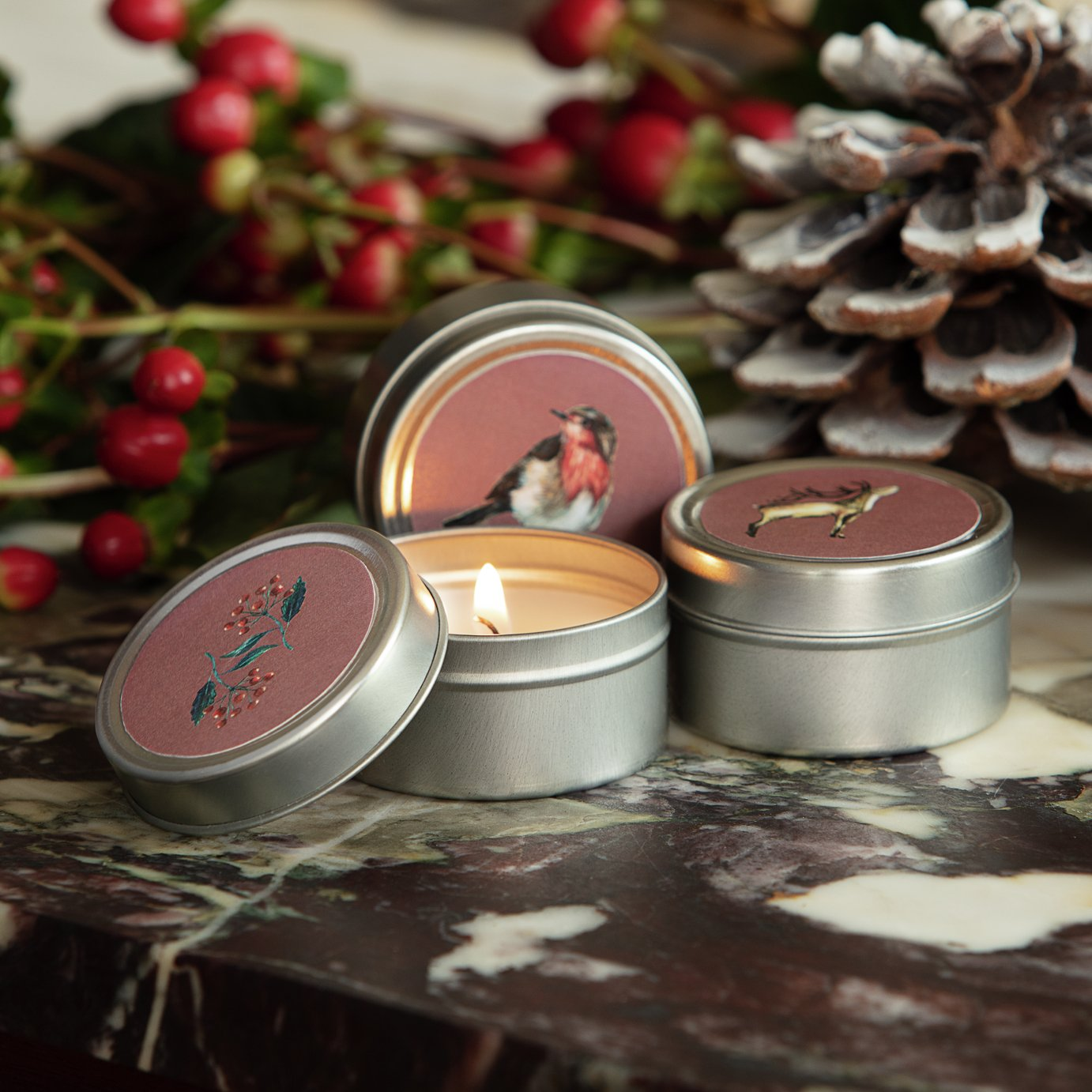 Argos Home Set of 3 Christmas Spice Tins