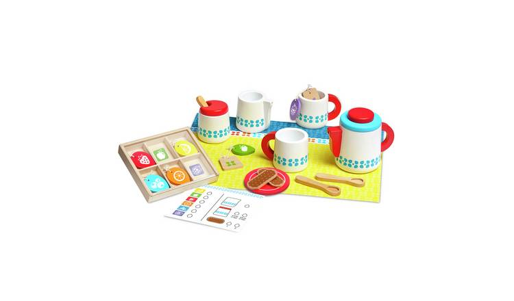 Melissa & Doug Wooden Tea Set