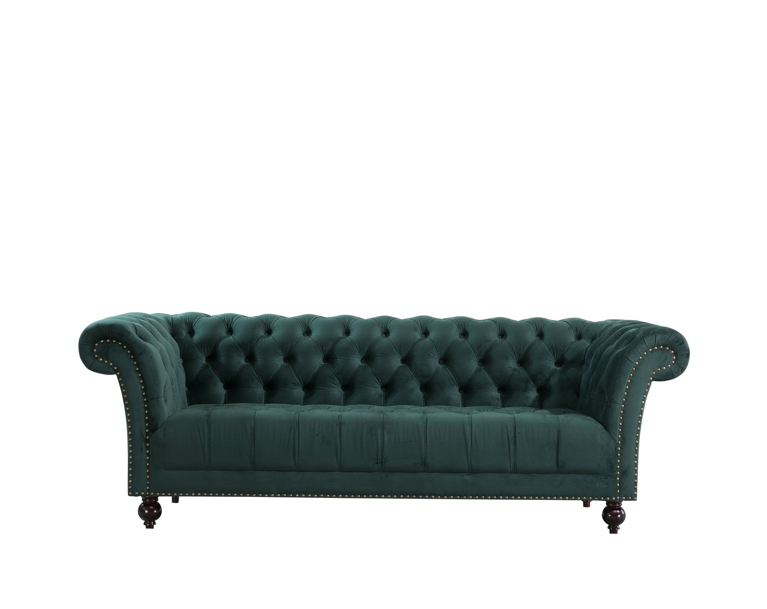 Birlea Chester 3 Seater Fabric Sofa - Green