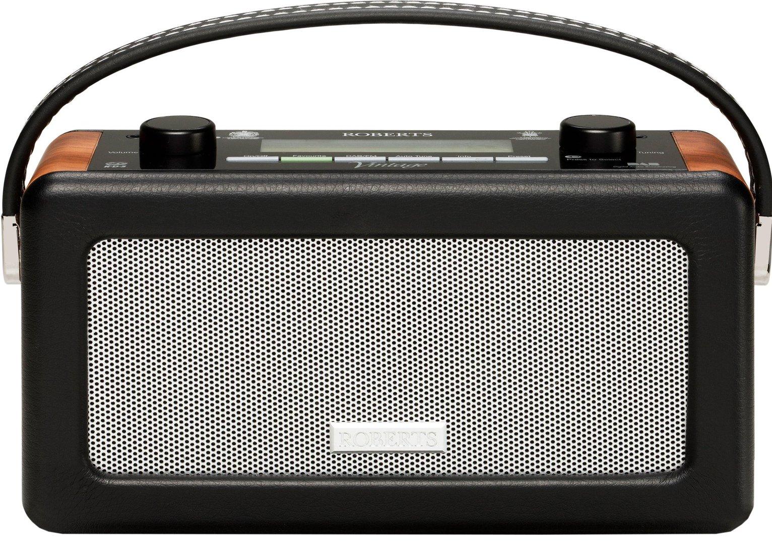 ROBERTS Vintage Portable DAB Radio - Black, Black