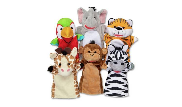 Buy Melissa And Doug Safari Friends Hand Puppets Puppet Theatre Argos